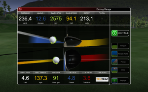 golf simulator technology - TruTrac statistics