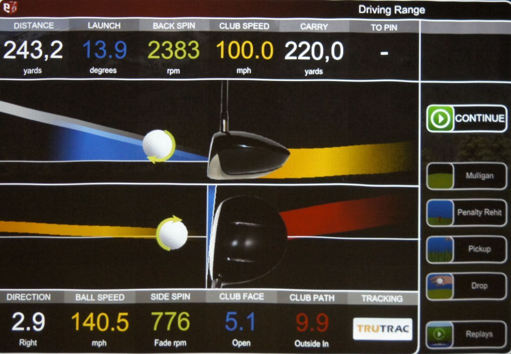 golf lessons with golf swing analyser TruTrac @ GOLFIN Dorion