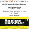 Golf Contest Rocket Hammer