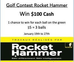 Golf Contest Rocket Hammer